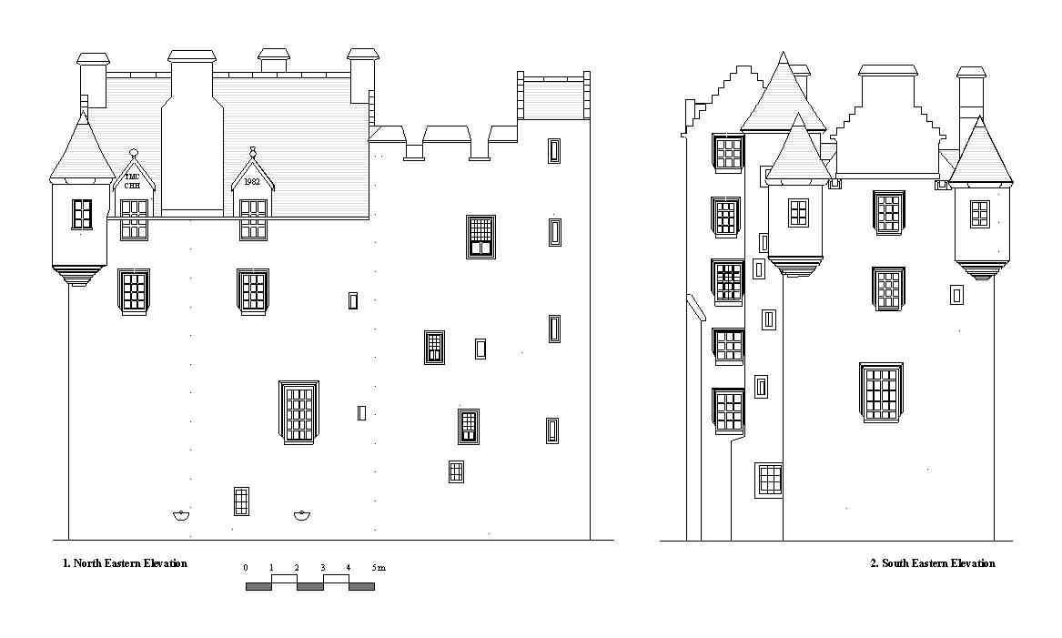 Wood Elevation Edinburgh : Ian parsons architect fawside castle