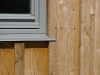 Larch cladding detail
